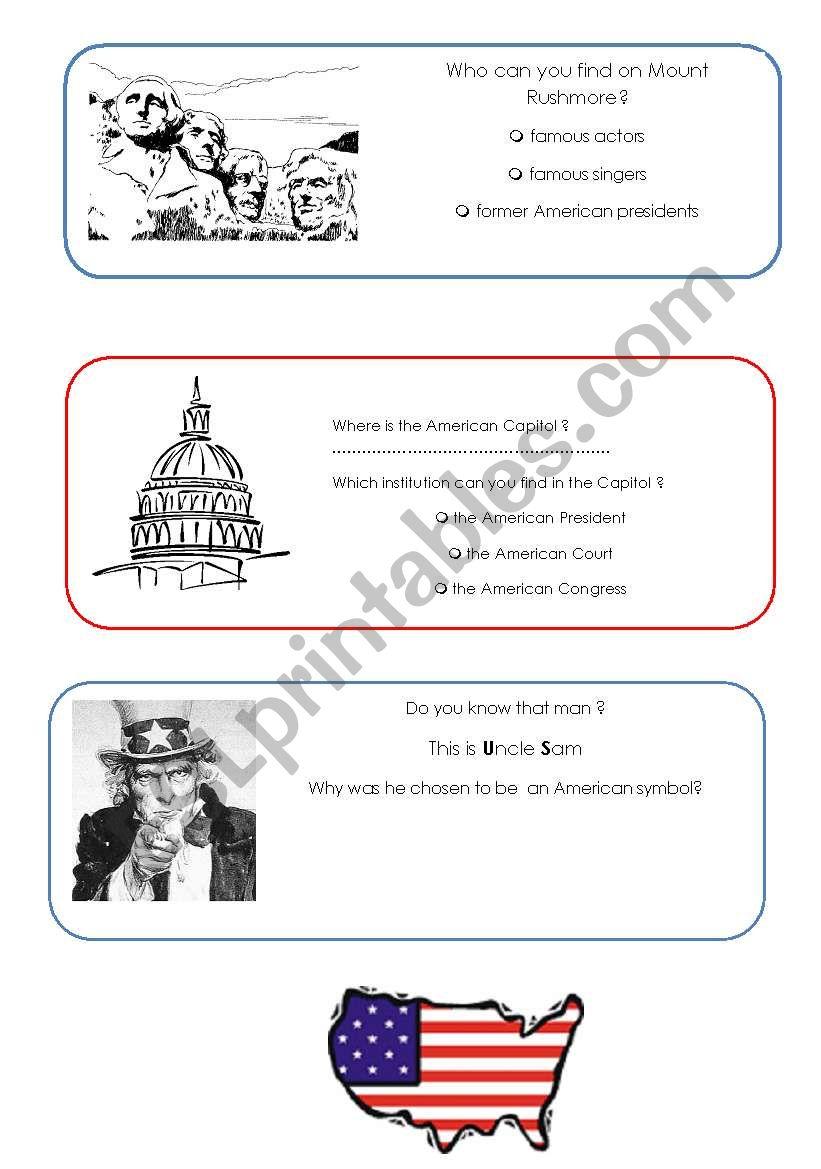 Symbols of America (2) worksheet