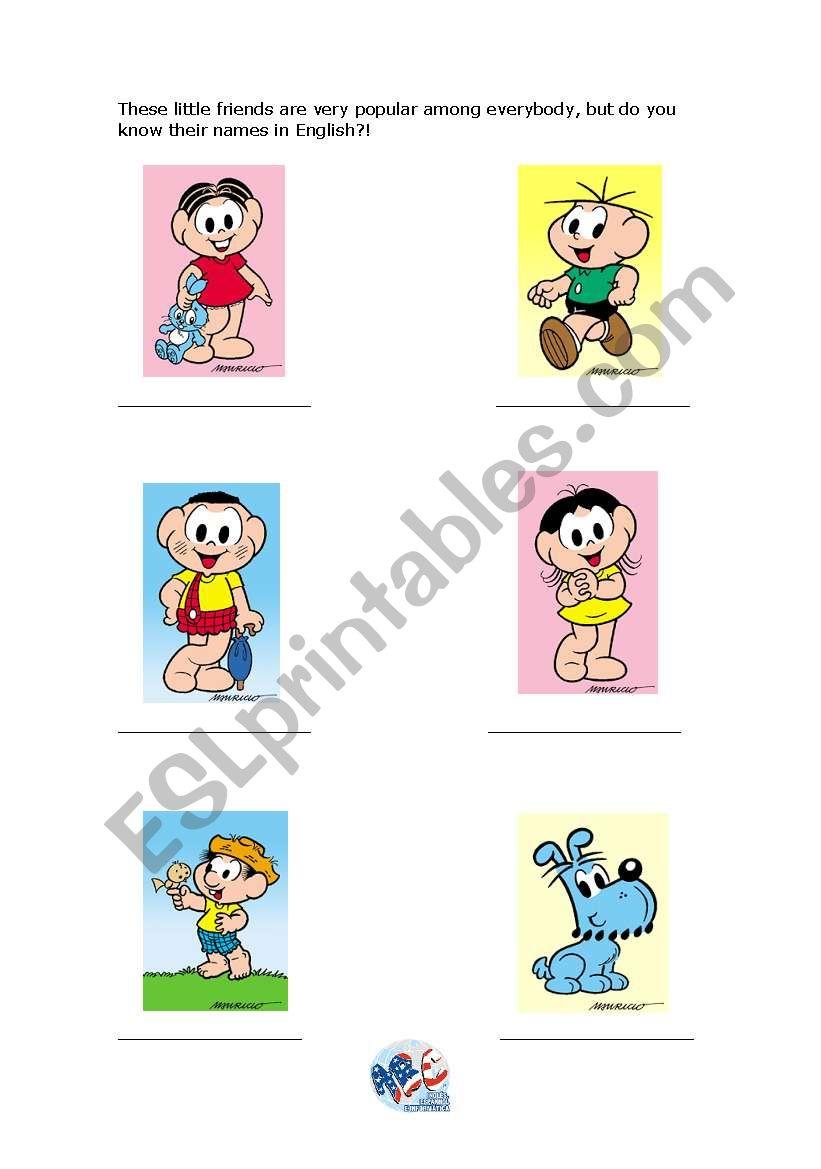 Monica´s Gang Characters worksheet
