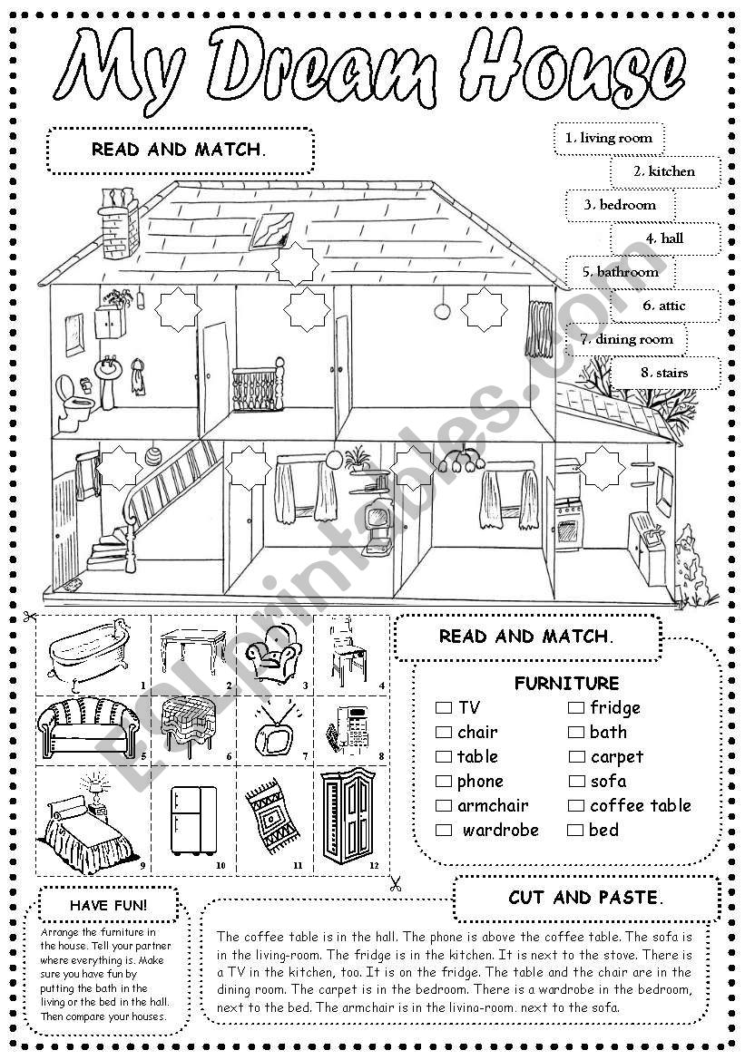 My Dream House worksheet