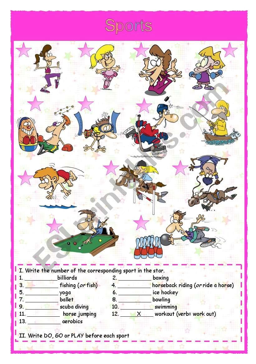 Sports 2/4 worksheet