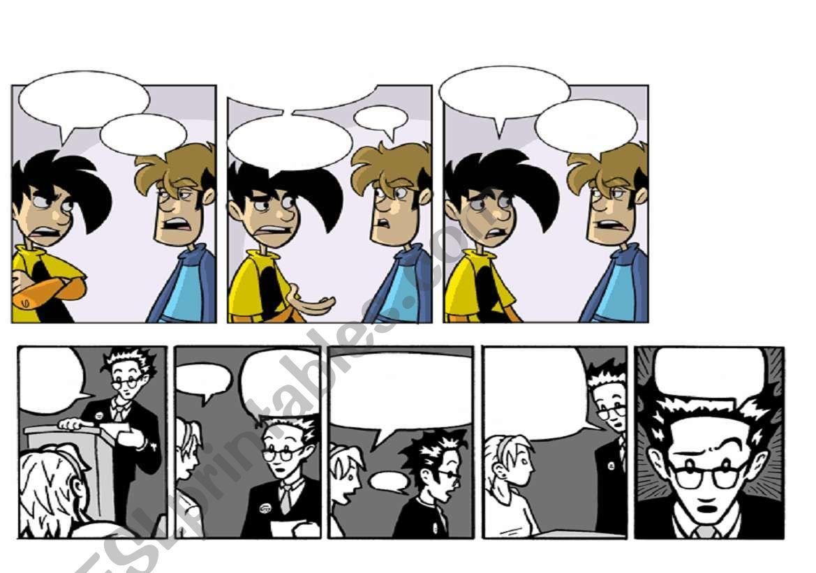 blank comic strips esl worksheet by nurus