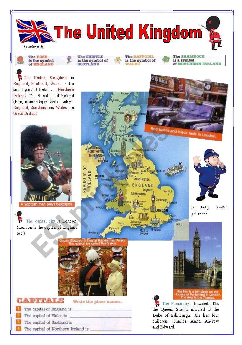 The United Kingdom (2sheets) worksheet