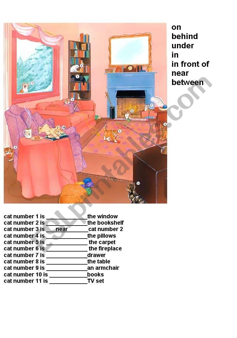prepositions (fil in gaps) worksheet