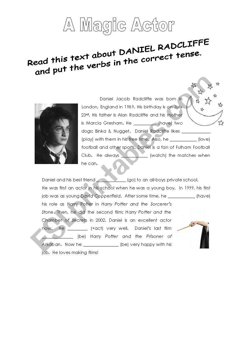 A magic Actor worksheet