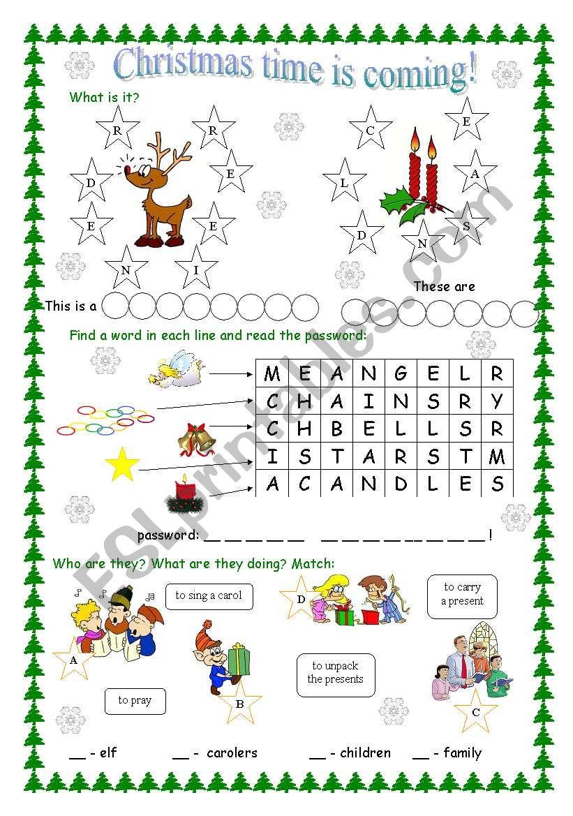 Christmas - for kids worksheet
