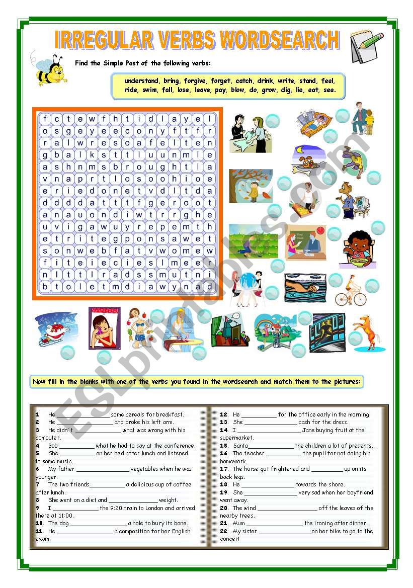 IRREGULAR VERBS worksheet