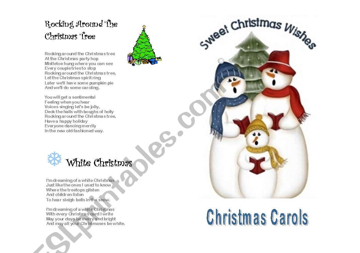 Christmas Carols lyrics - ESL worksheet by gabykynue