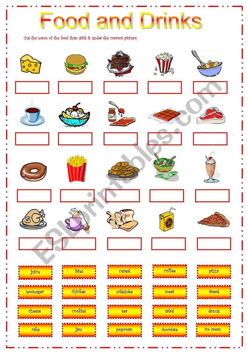 Food n Drinks worksheet