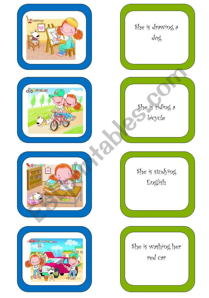 Memory card game (1/5) worksheet