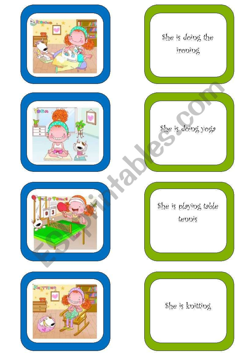 Memory card game (2/5) worksheet