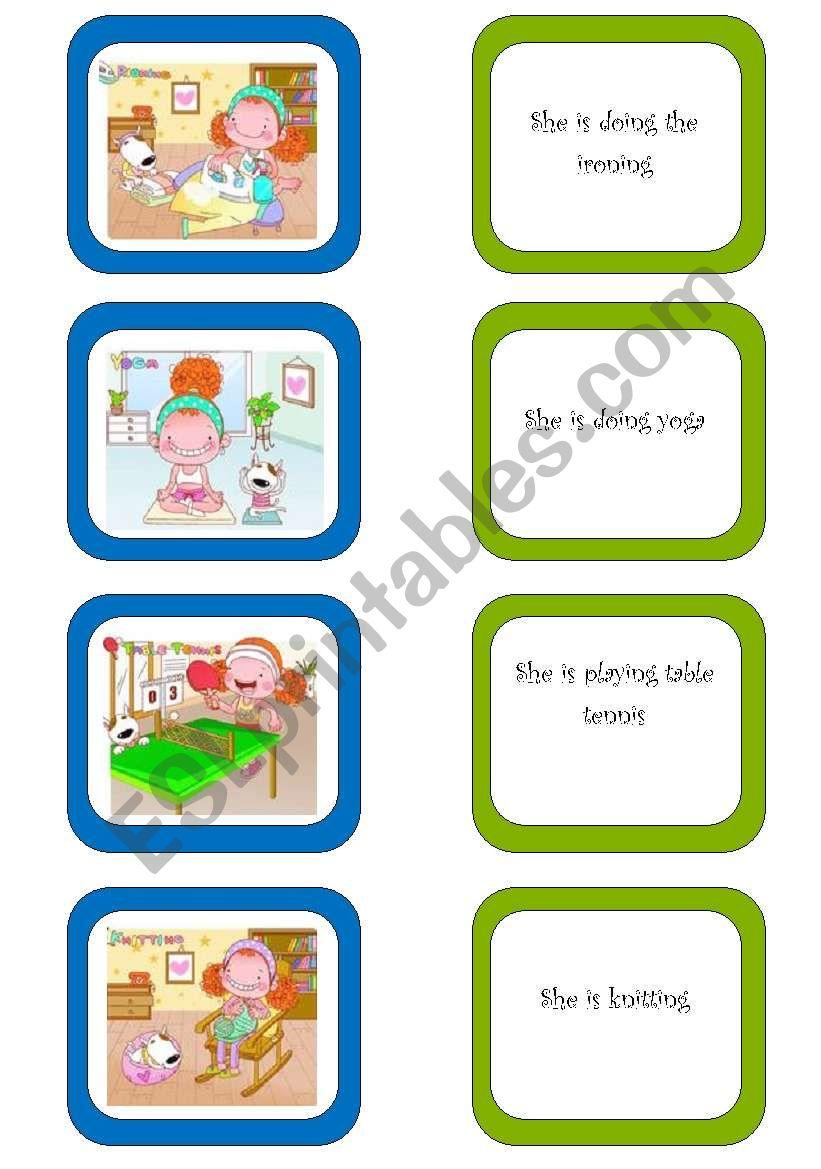 Memory card game (2/5) worksheet
