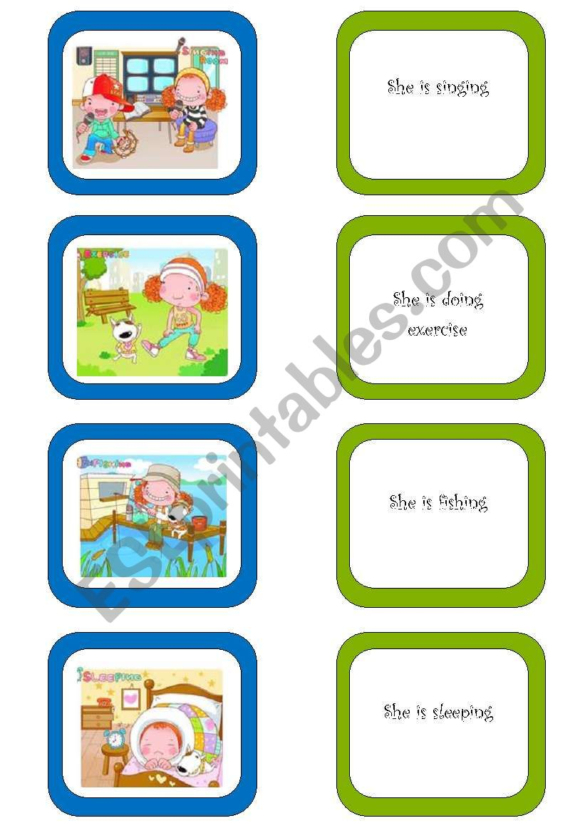 Memory card game (3/5) worksheet