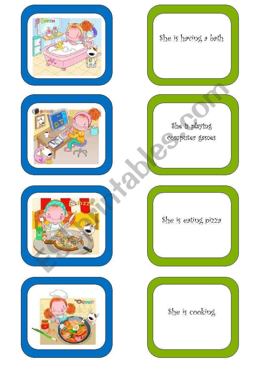 Memory card game (4/5) worksheet
