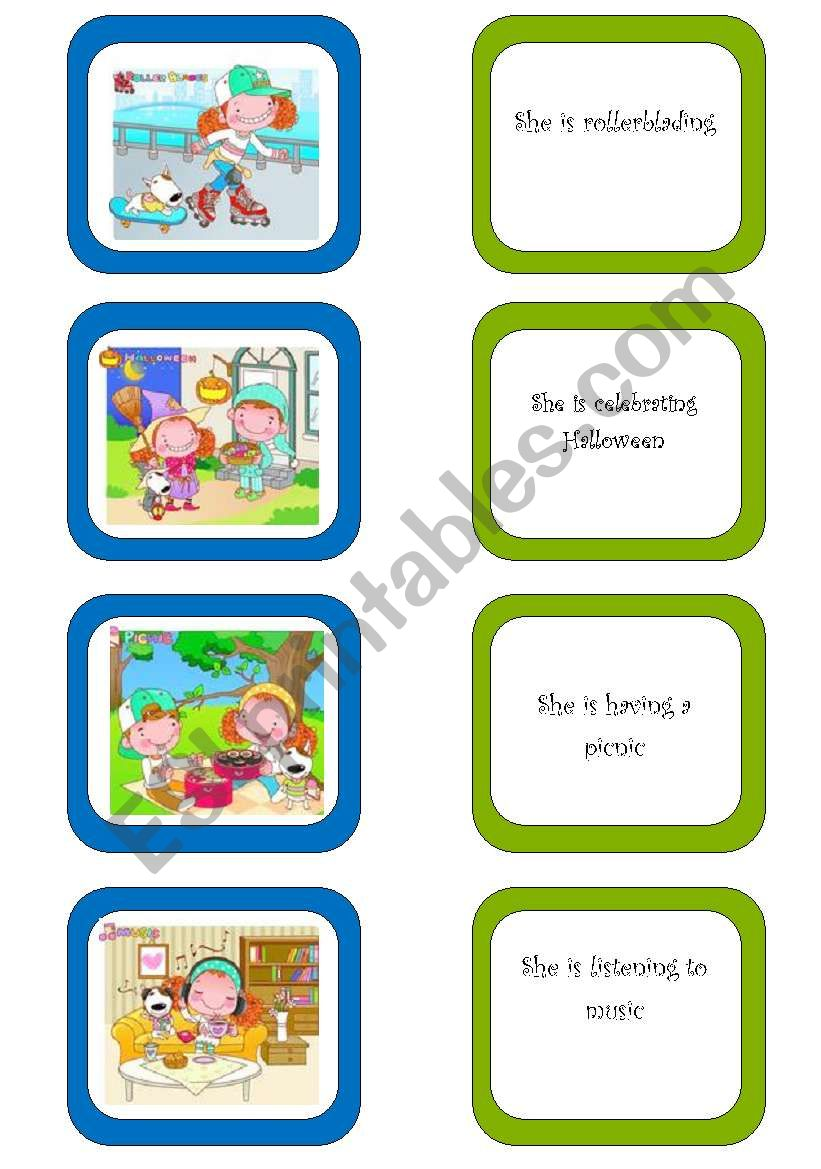 Memory card game (5/5) worksheet