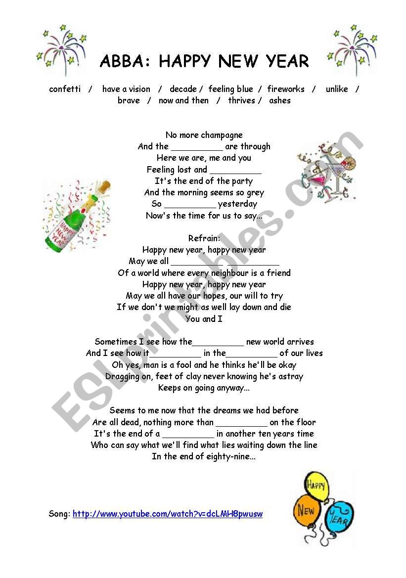 148732_1-Abba_Happy_New_Year Xmas Worksheet For Pre on trace letters, writing handwriting, re un, learning printable, maths concept for nursery, sight words printable,