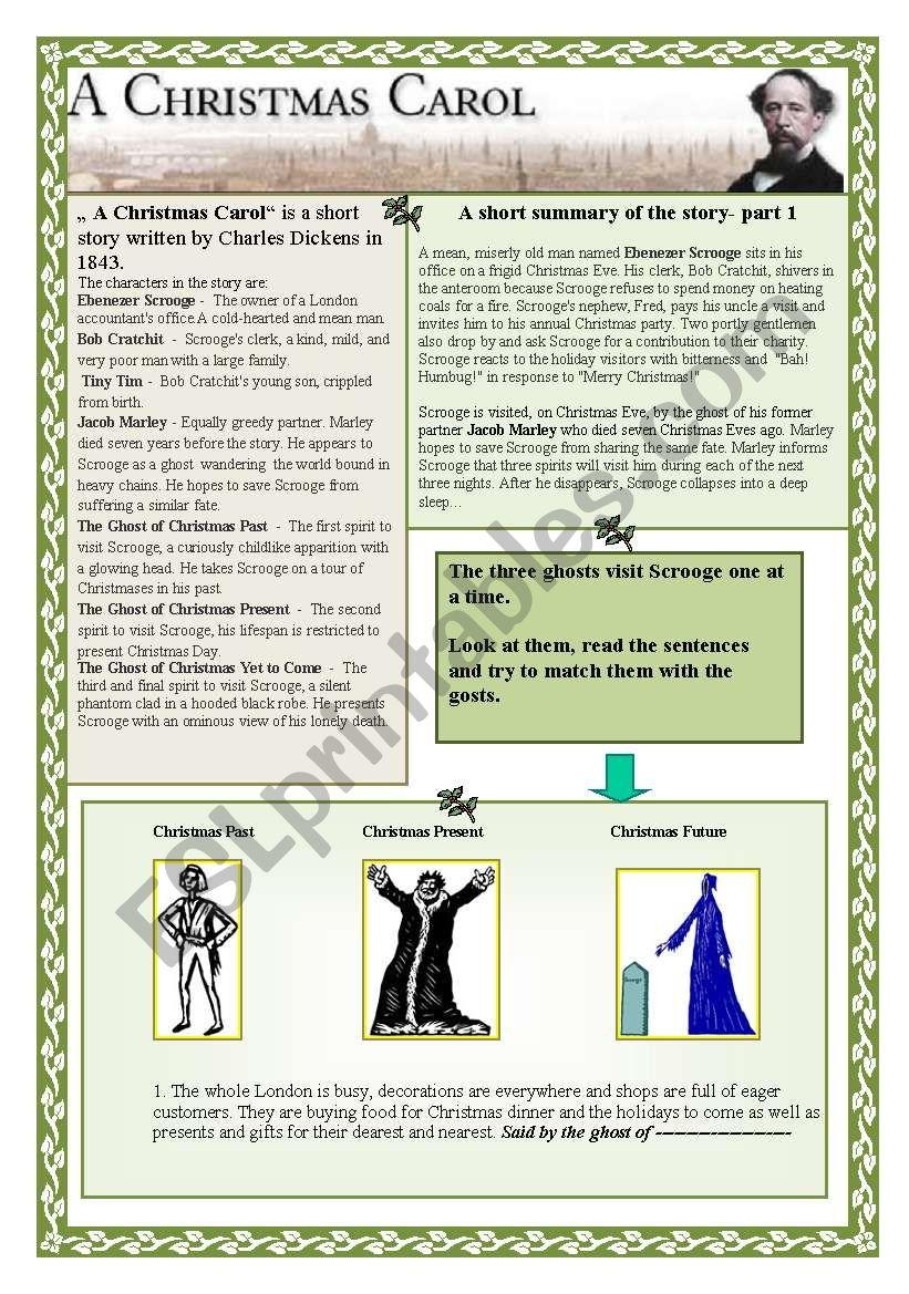 A Christmas Carol - ESL worksheet by renca