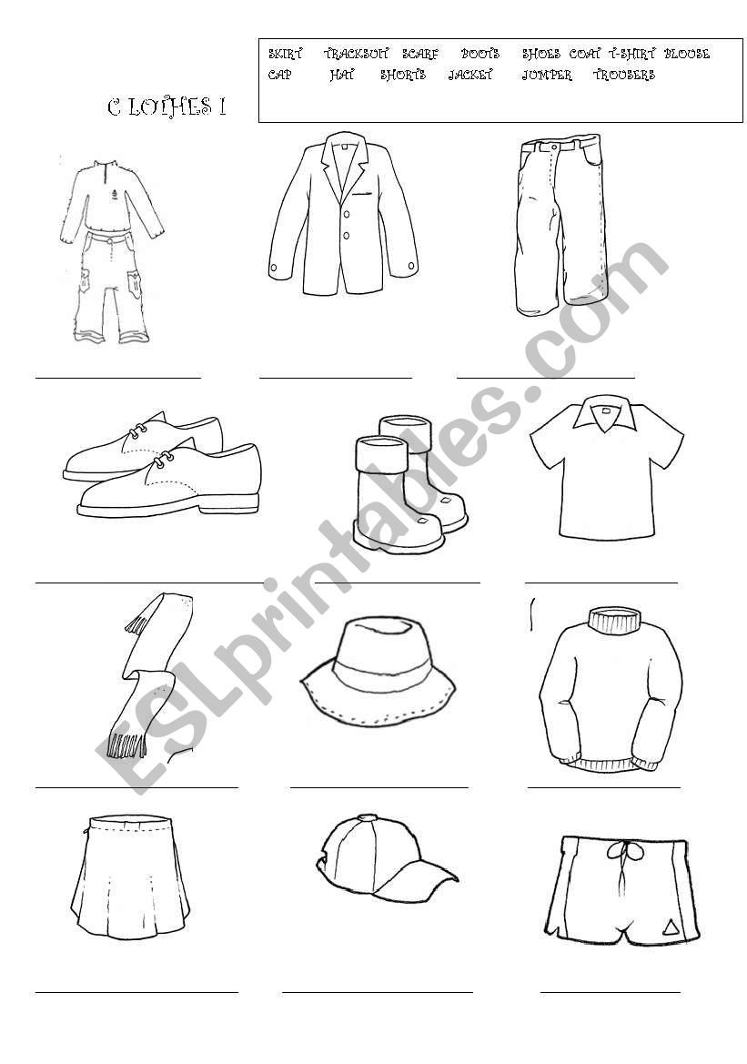 CLOTHES FOR PRIMARY - ESL worksheet by piturra