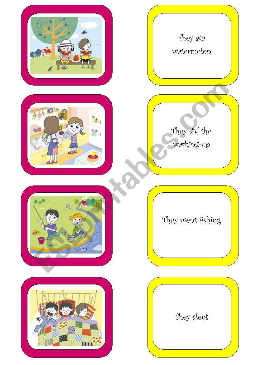 Memory card game (1/6) worksheet