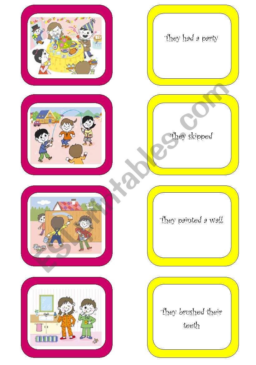 Memory card game (2/6) worksheet