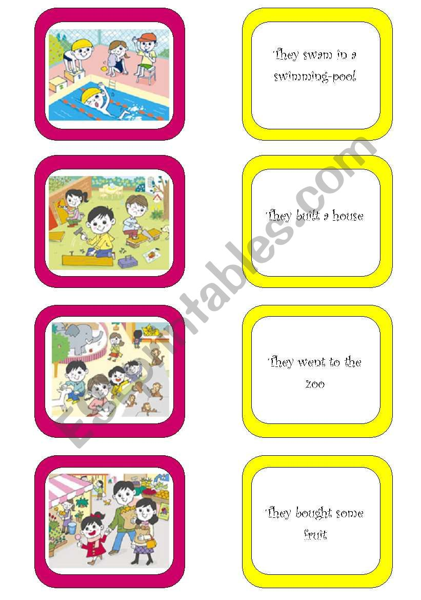Memory card game (4/6) worksheet