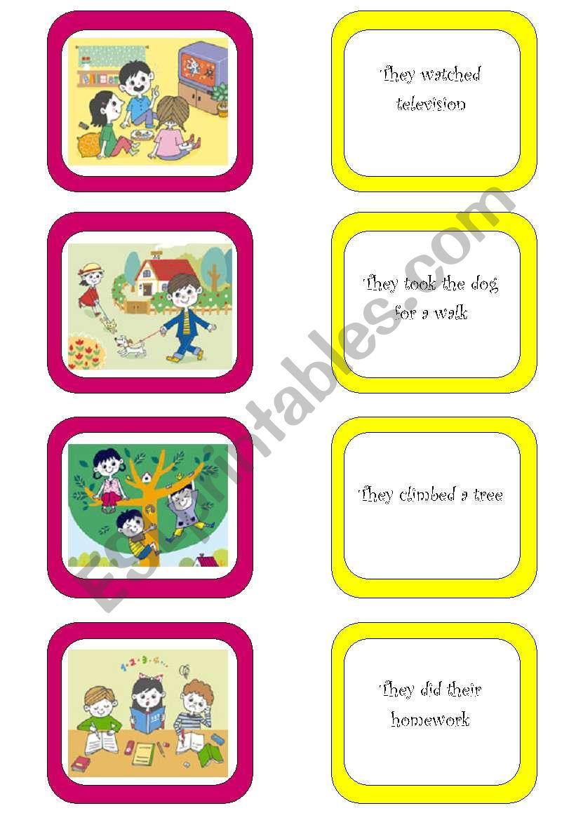 Memory card game (5/6) worksheet