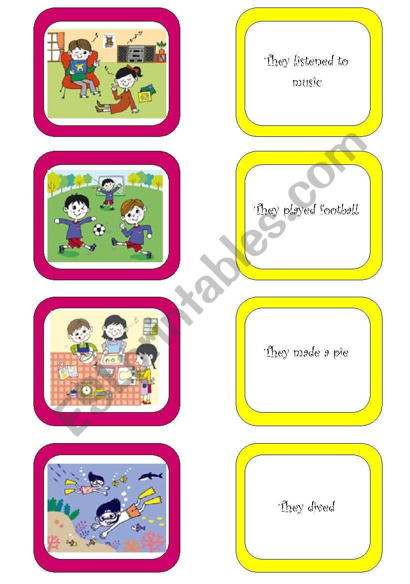 Memory card game (6/6) worksheet