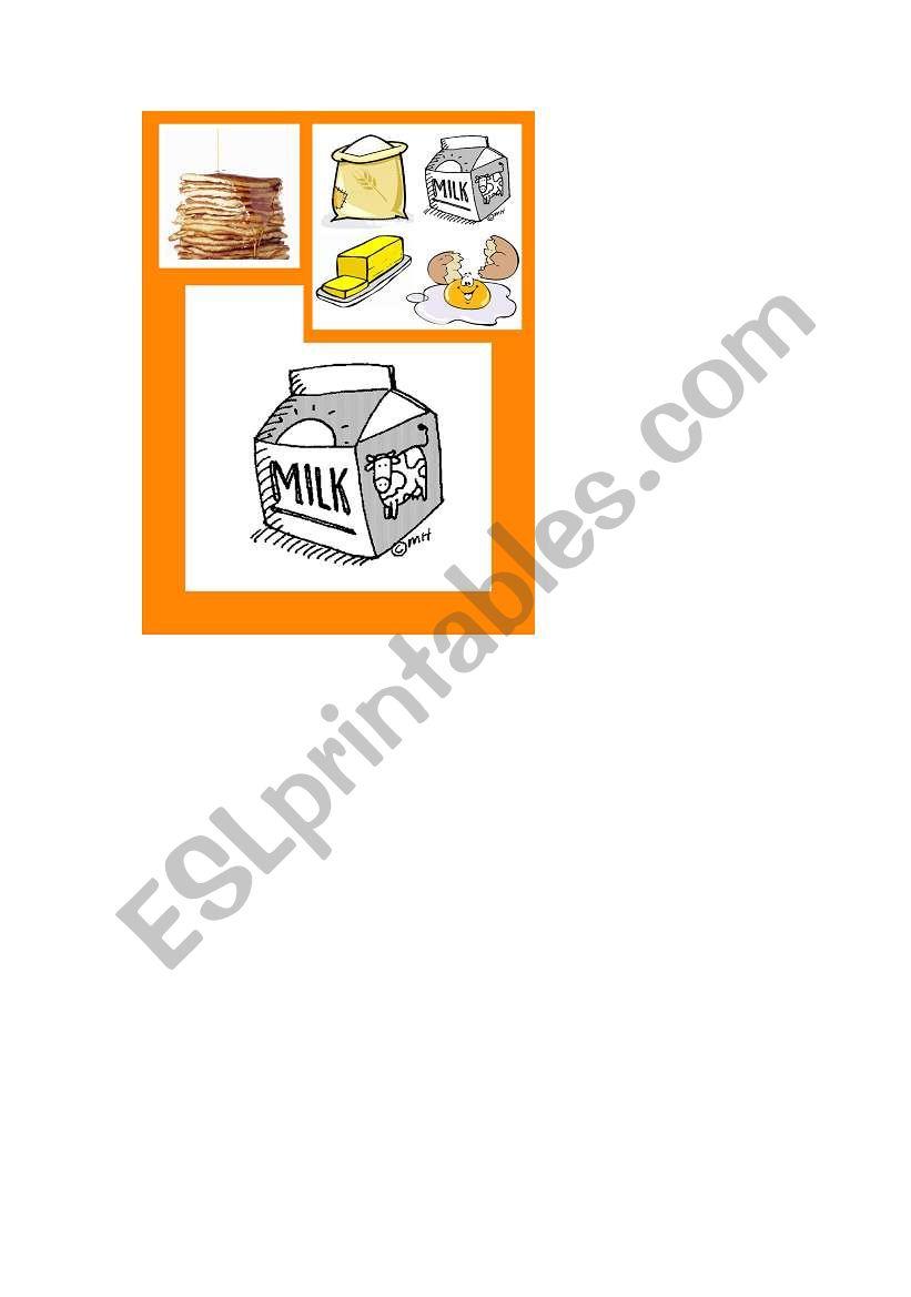 Happy Food Families Pancakes - milk
