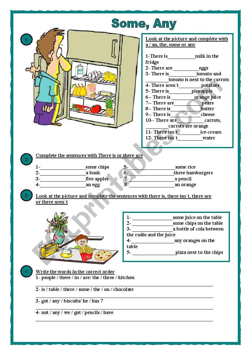 Some, any worksheet