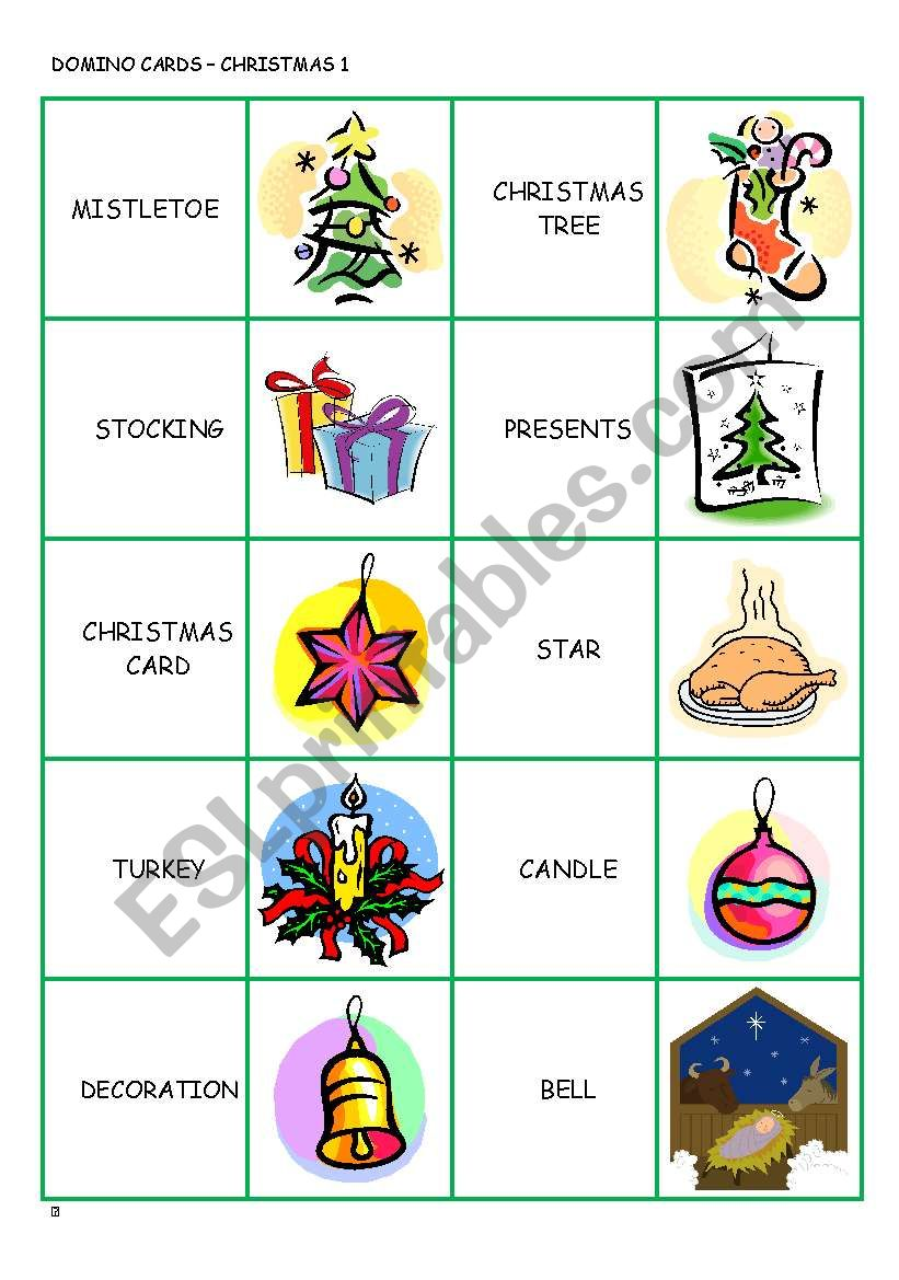 CHRISTMAS DOMINO CARDS part 1/3
