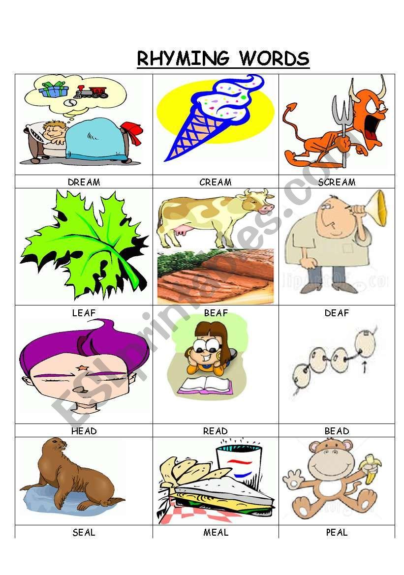 RHYMING WORDS 5 worksheet