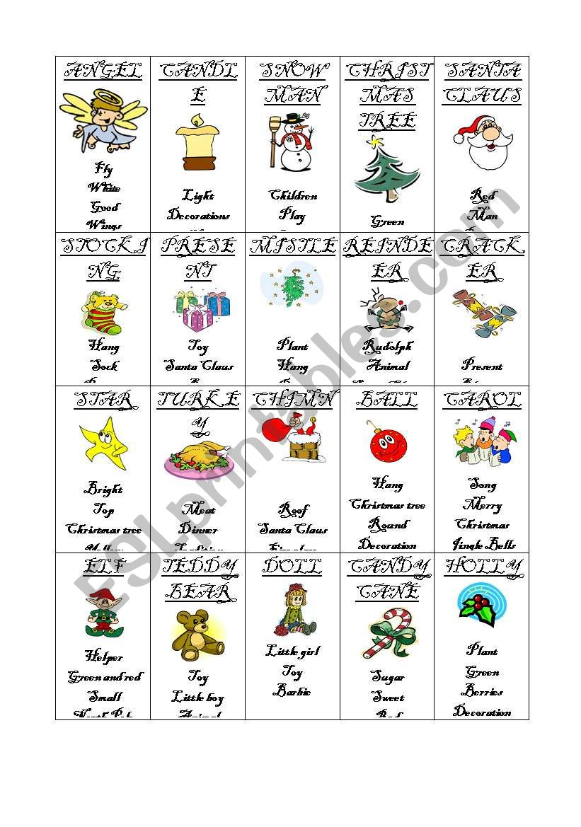 A taboo on Christmas worksheet