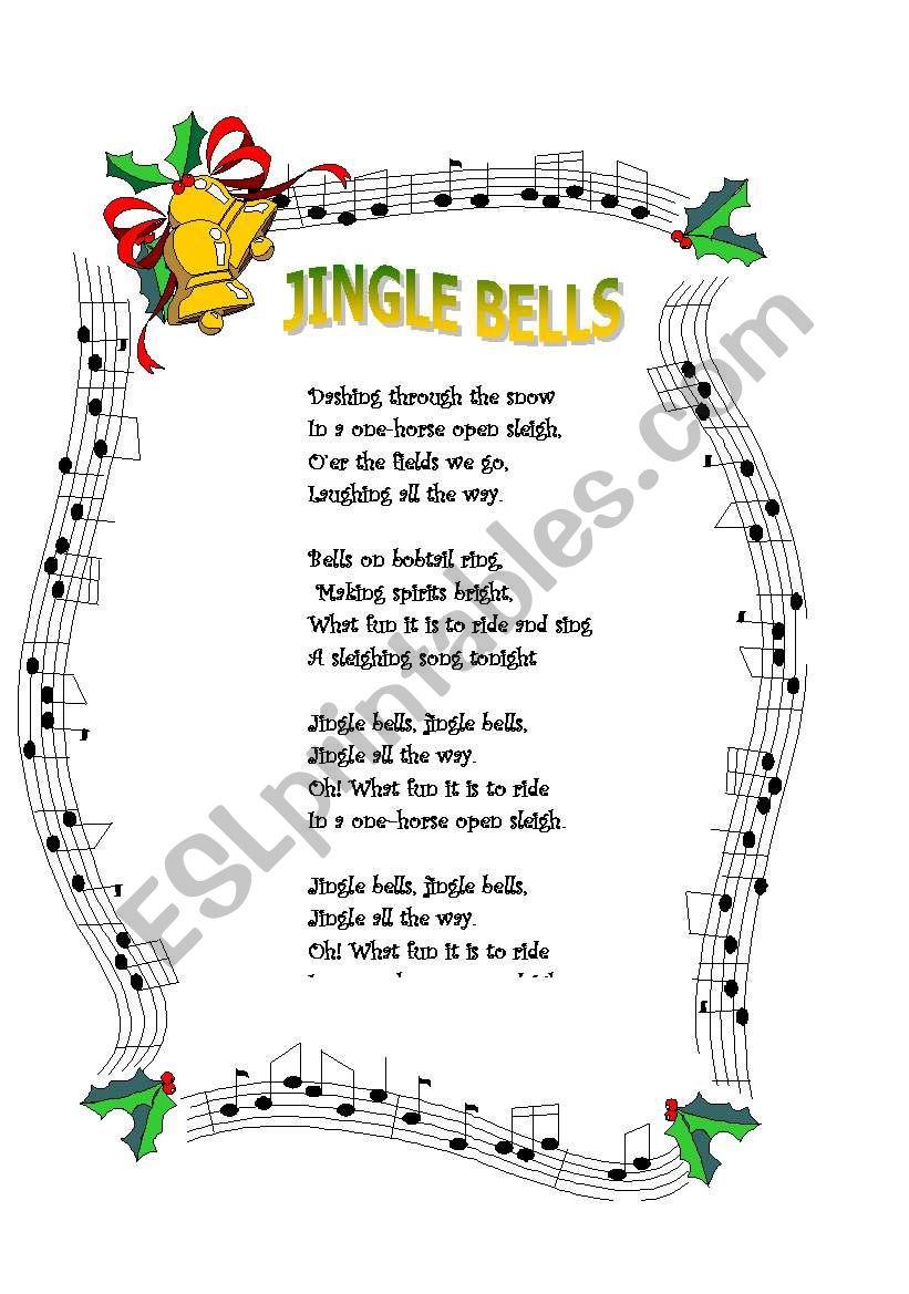 Jingle bells worksheet