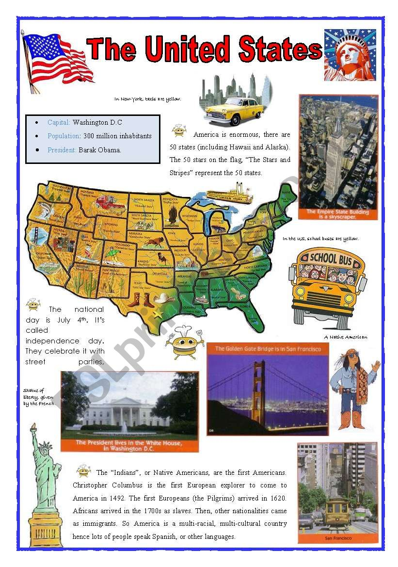 United States (2sheets) worksheet