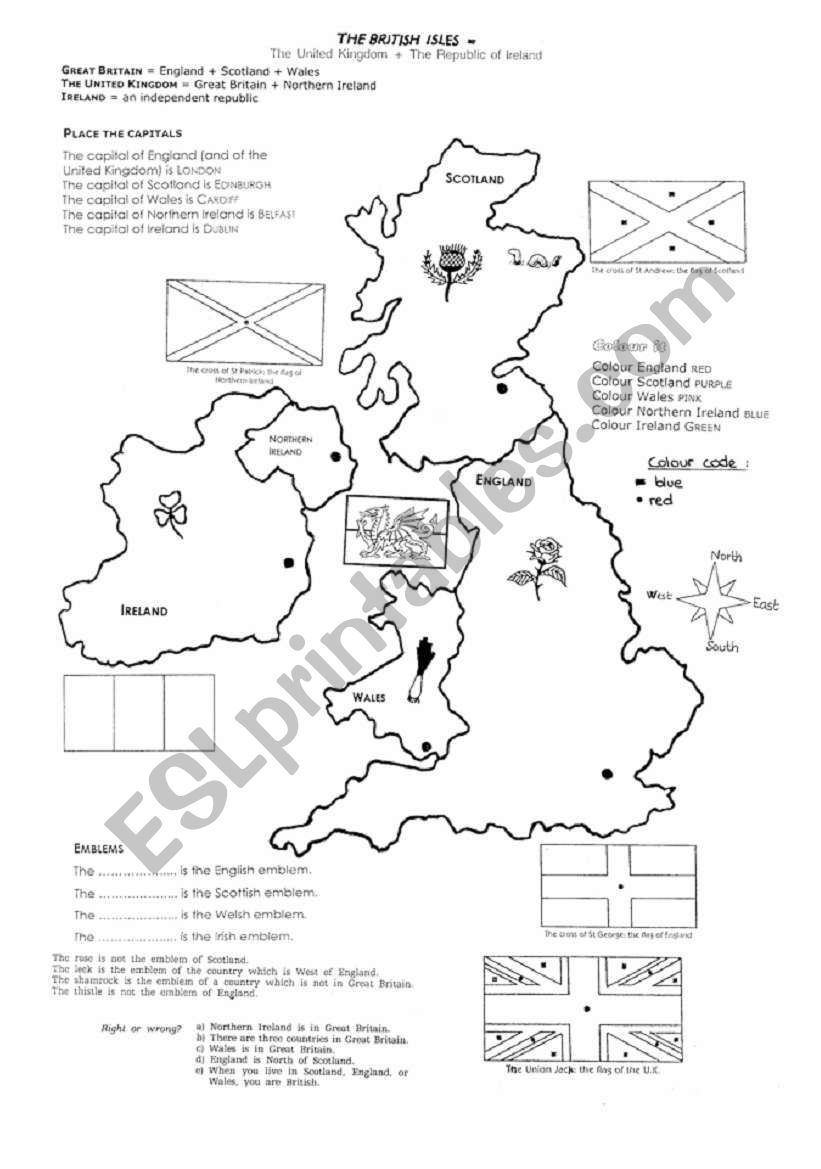 The British Isles worksheet