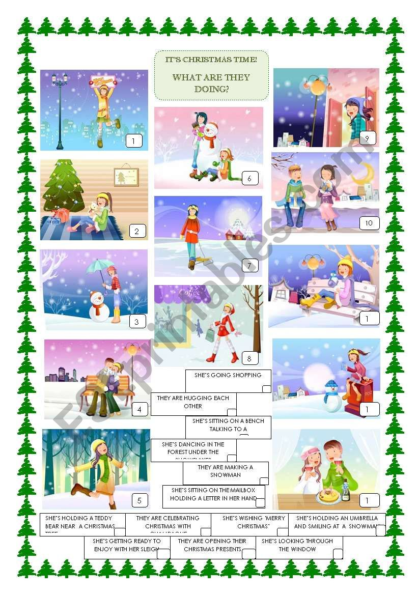 CHRISTMAS CARDS worksheet