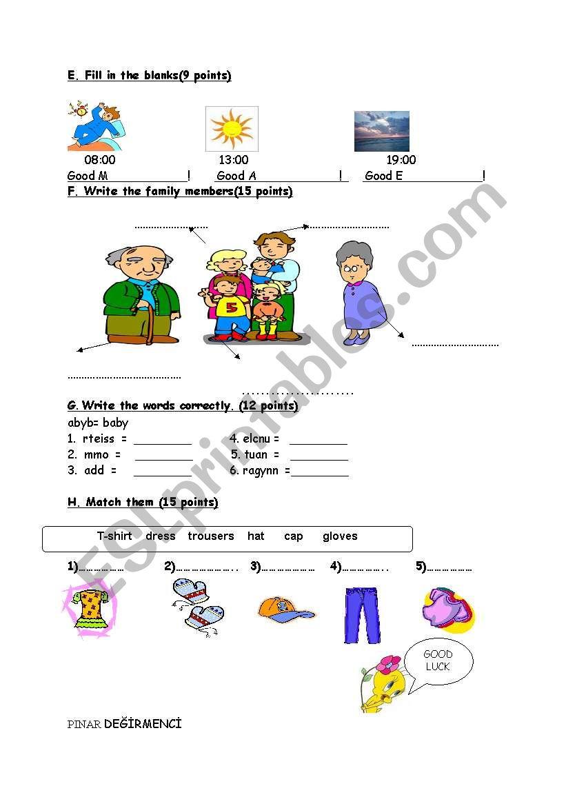 worksheet for kids 2 worksheet