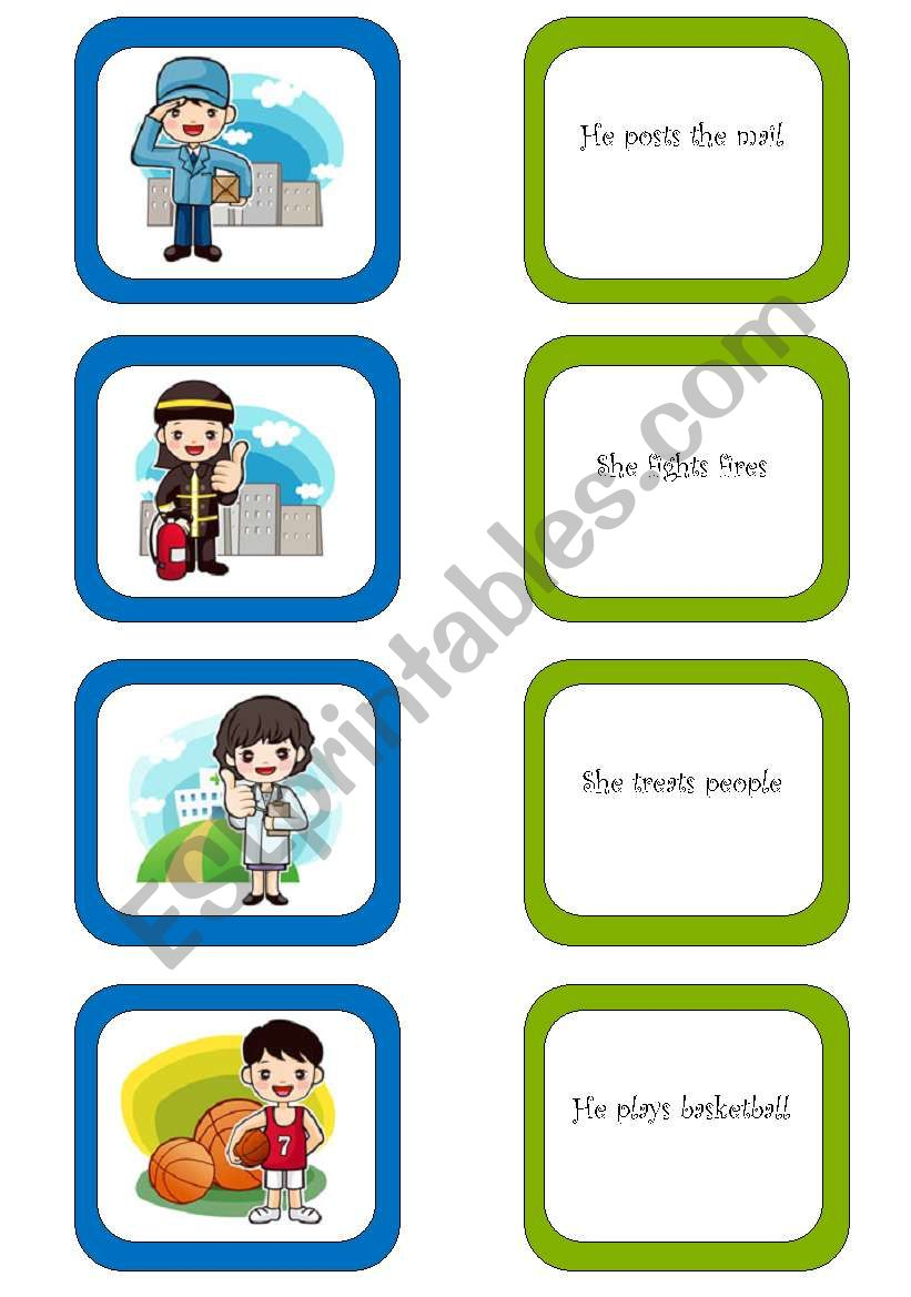 Memory card game / What do they do? (1/3)