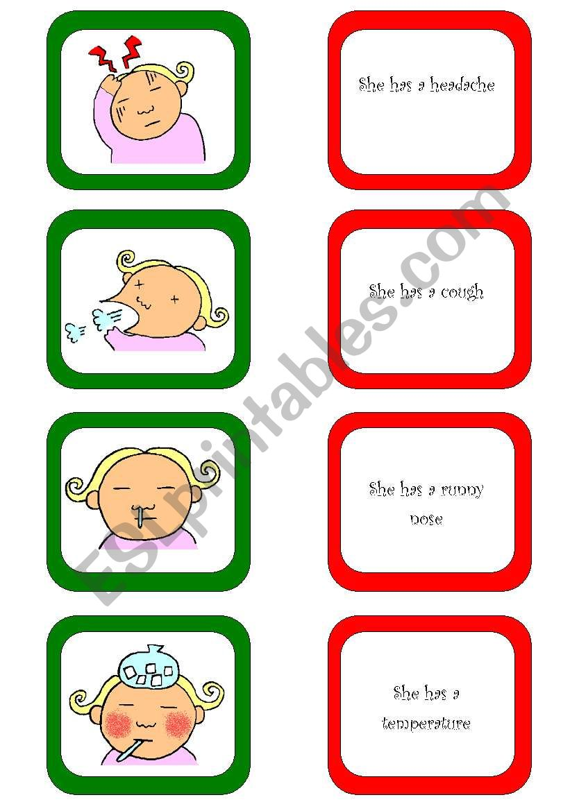 Memory card game / What´s the matter? (1/3)