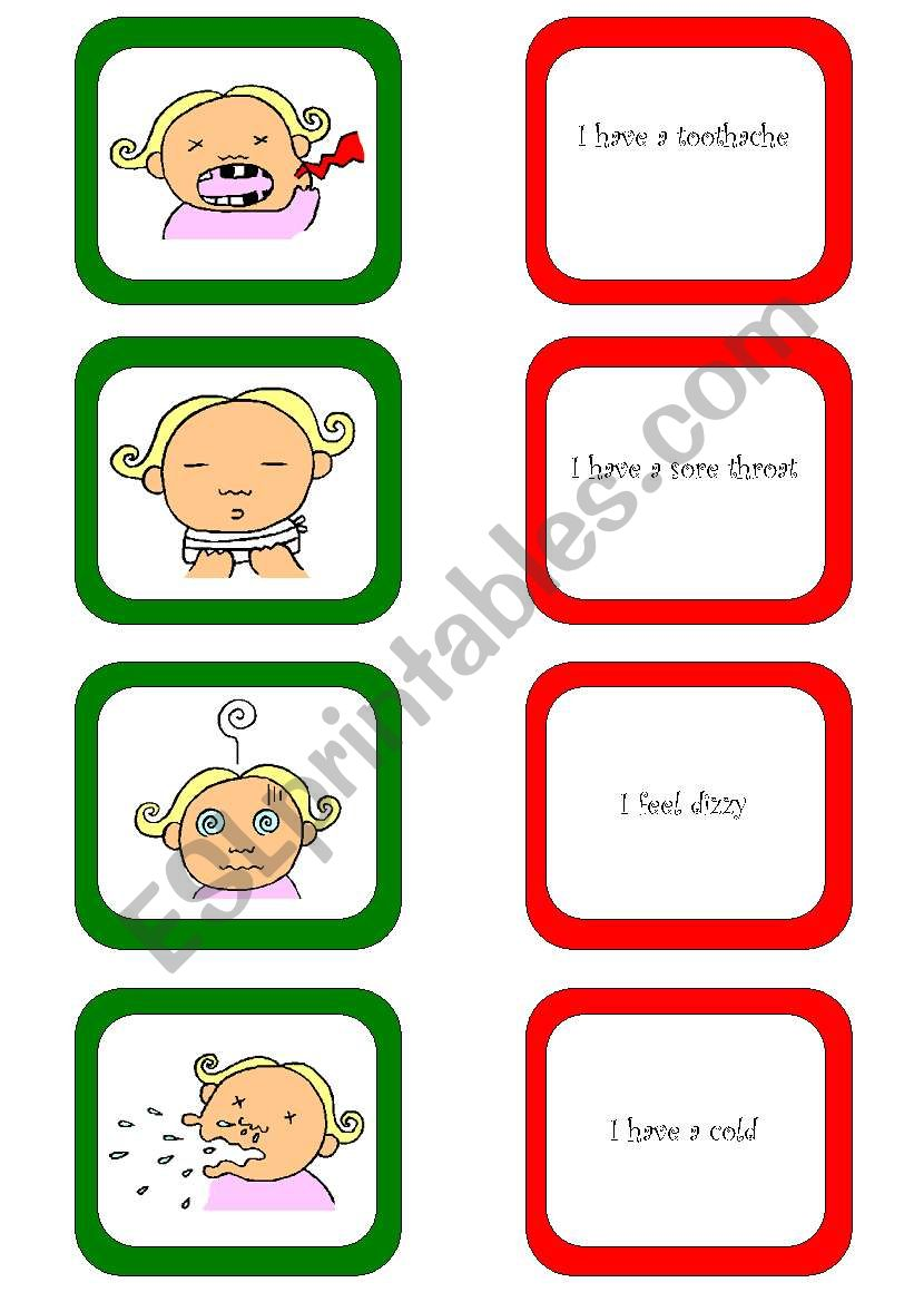 Memory card game / What´s the matter? (2/3)