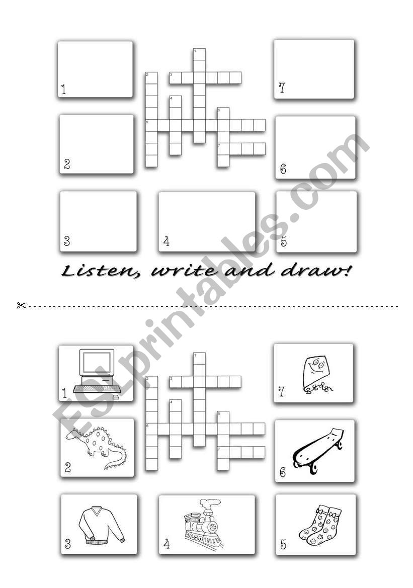 Spelling Crossword worksheet