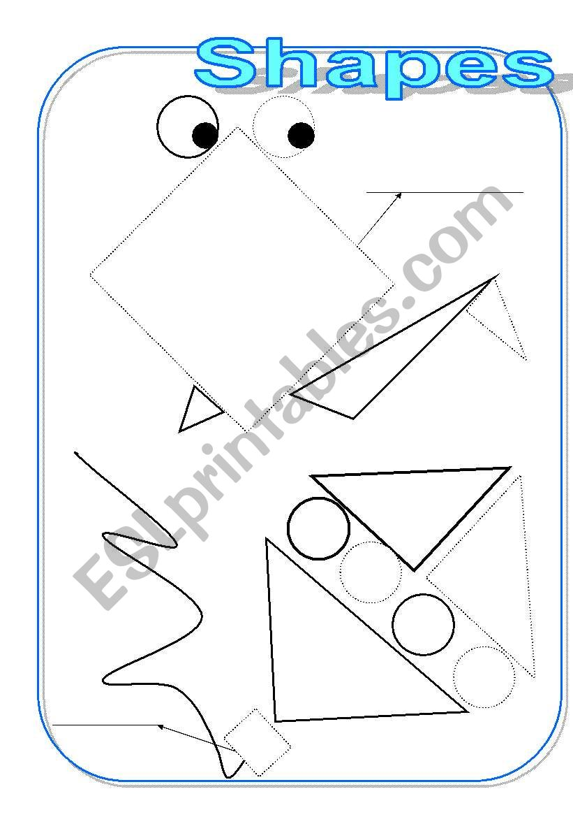 Shapes   NINE PAGES   carousel-chicken-robot-train-dog-house
