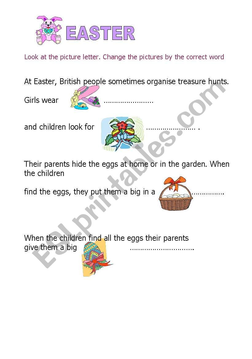 Christmas and Easter worksheet