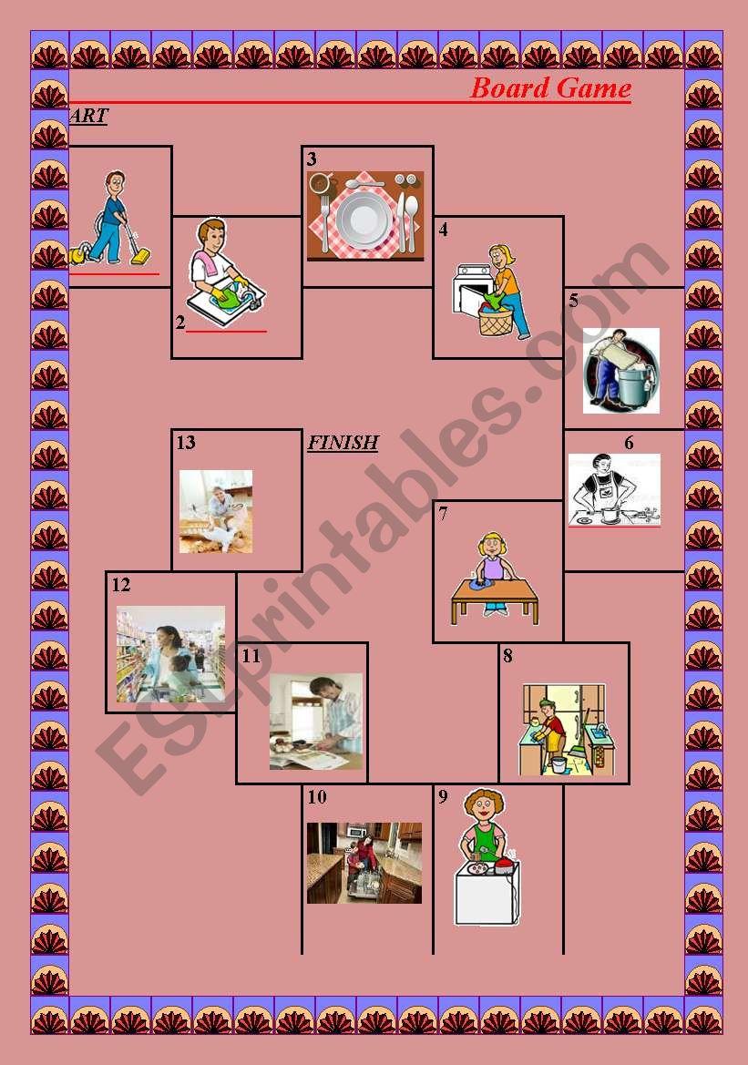 Chores Game worksheet