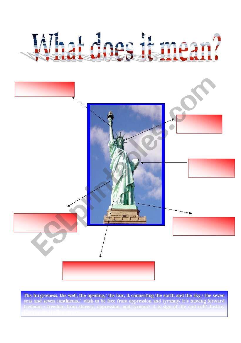 Lady Liberty 5/5 worksheet