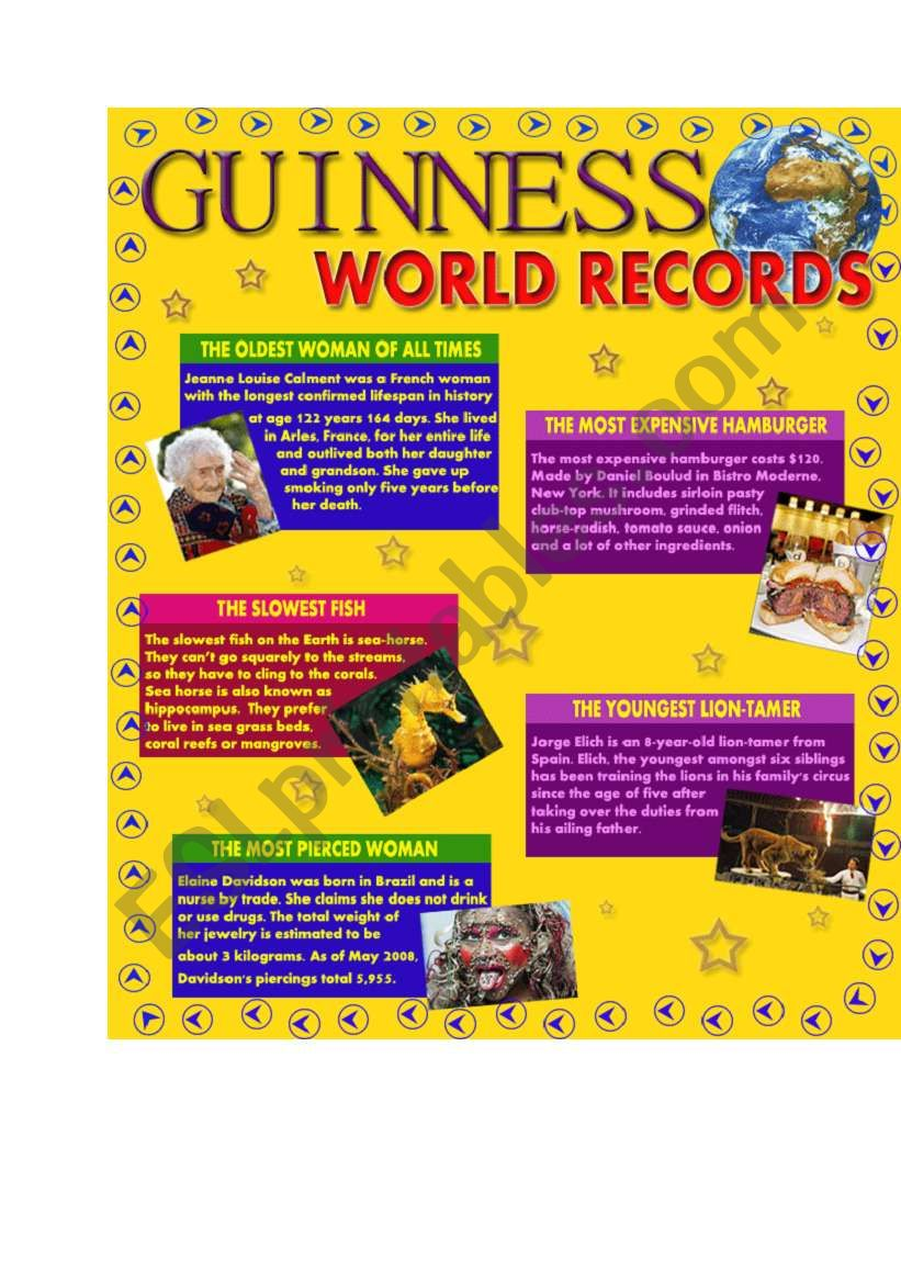 Guinness World Records - Part 1