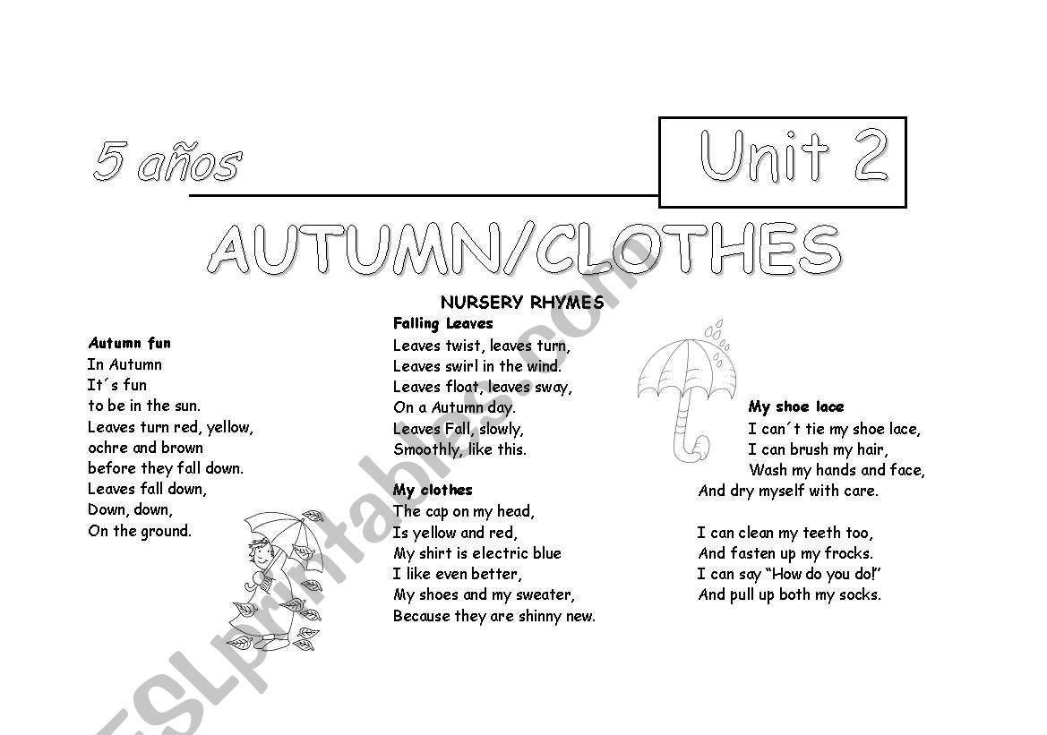Nursery Rhymes For Autumn And Clothes