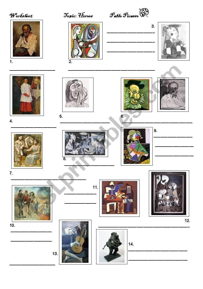 Picasso worksheet