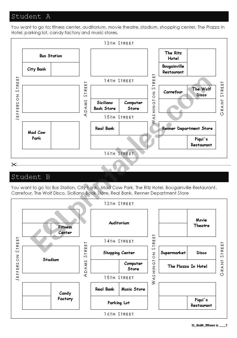 locating places esl worksheet by andressa. Black Bedroom Furniture Sets. Home Design Ideas
