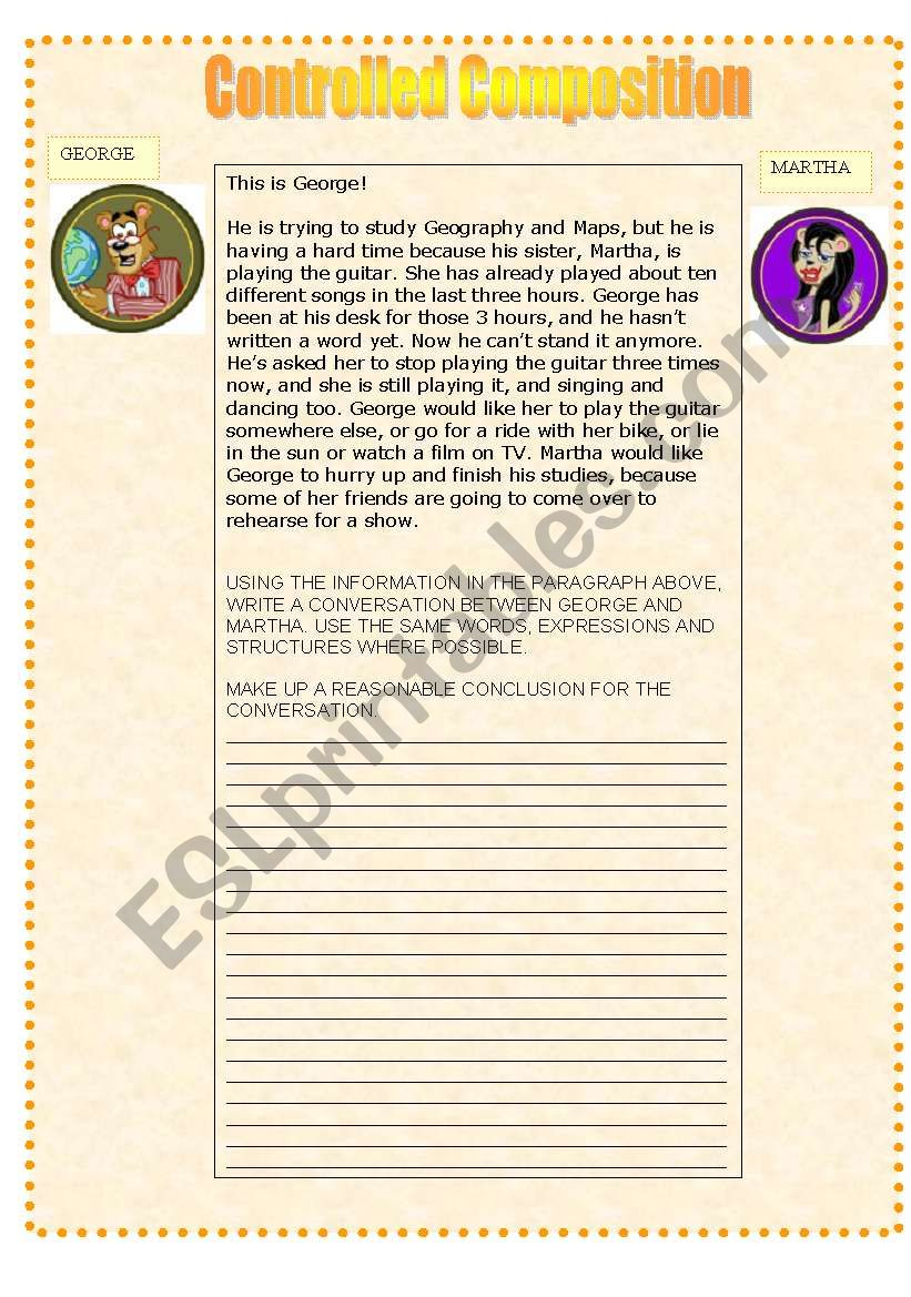 GUIDED COMPOSITION worksheet