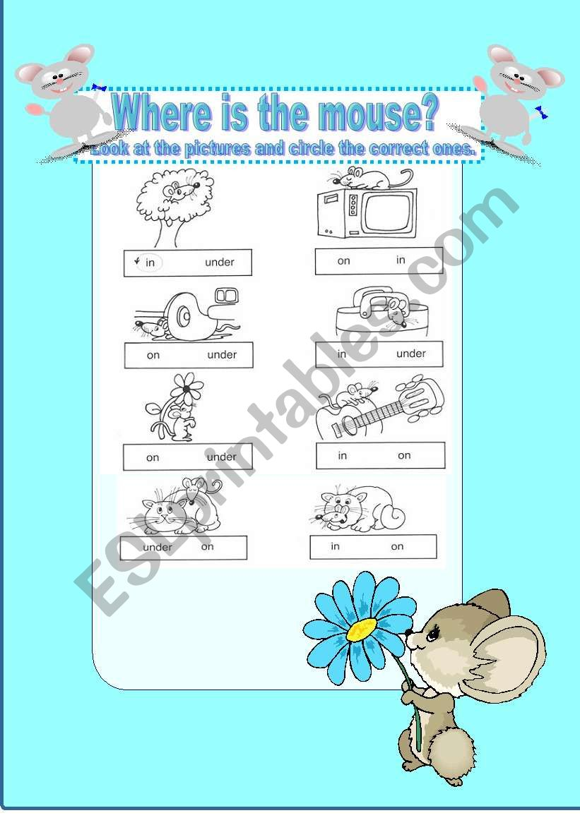 Where is the mouse? /  Prepositions